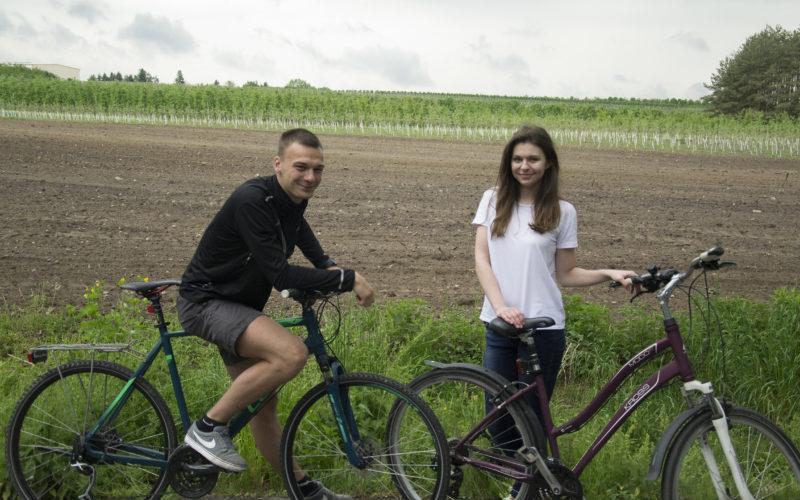 Dominik – strażak na rowerze